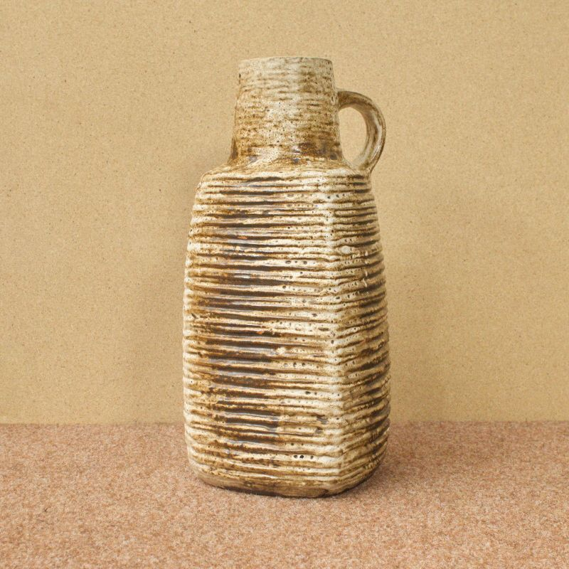 Mid Century Keramikvase Bodenvase Rillenoptik Carstens Keramik 7784-45 60er TOP