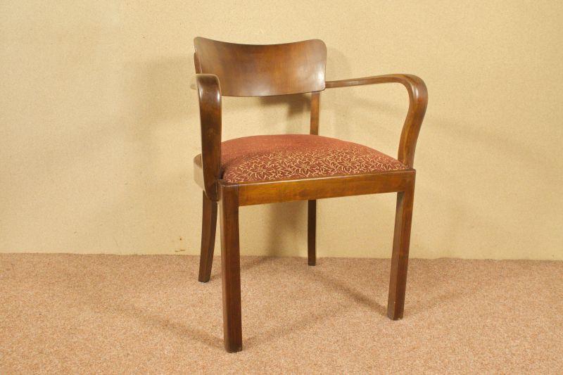 Art Deco Armlehnenstuhl Schreibtisch Stuhl Sessel Federkern 30er, 40er