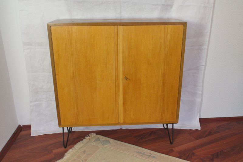 Vintage Schrank von WK Möbel mit Hairpin Legs 50er Jahre Georg Satink