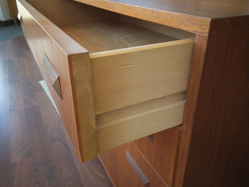 Mid Century Teak Kommode 4 Schubladen Danish Design Teakholz 60er 5