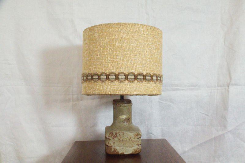 Mid Century Facette Kreutz Keramik Tischlampe Vintage Lampe 4-eckig | 1960er
