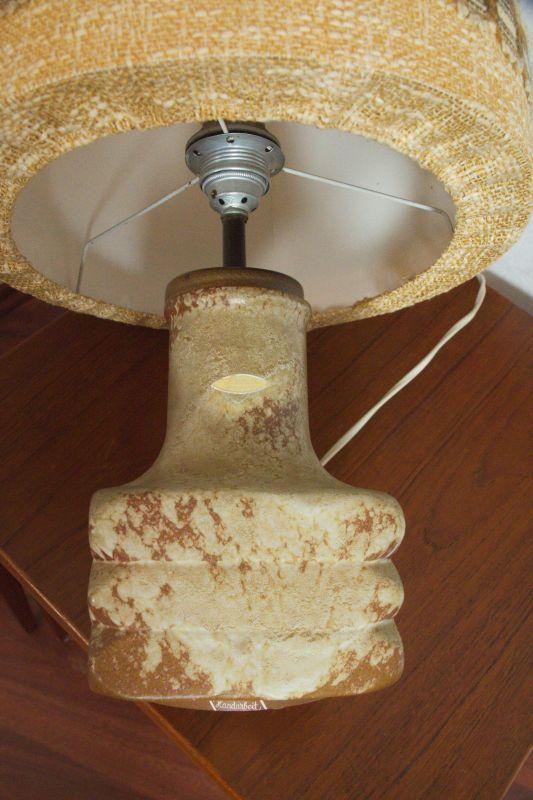 Mid Century Facette Kreutz Keramik Tischlampe Vintage Lampe 4-eckig   1960er 7