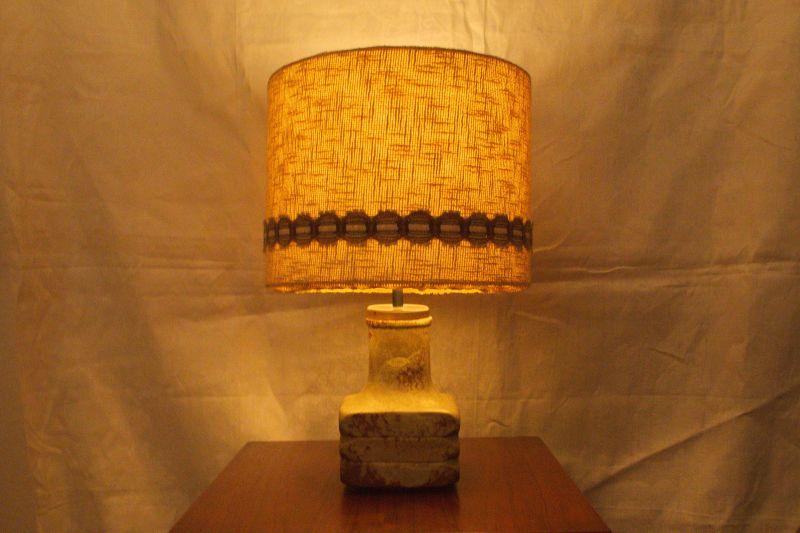 Mid Century Facette Kreutz Keramik Tischlampe Vintage Lampe 4-eckig   1960er 8