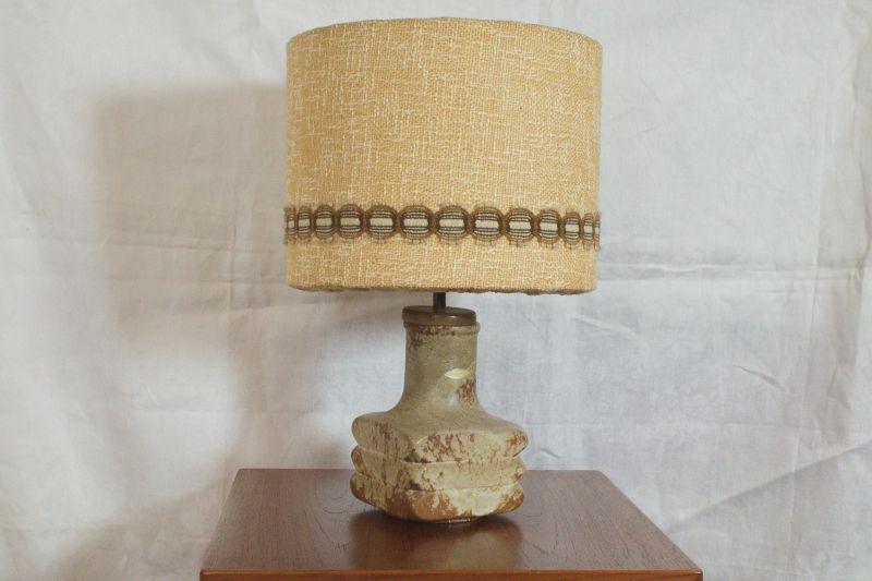 Mid Century Facette Kreutz Keramik Tischlampe Vintage Lampe 4-eckig   1960er 9