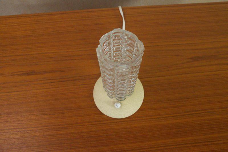 Vintage Tischlampe Rockabilly Lampe rund Schrumpflack gelb 50er 2