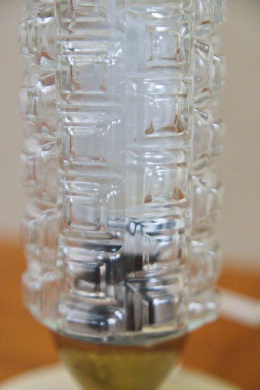 Vintage Tischlampe Rockabilly Lampe rund Schrumpflack gelb 50er 4