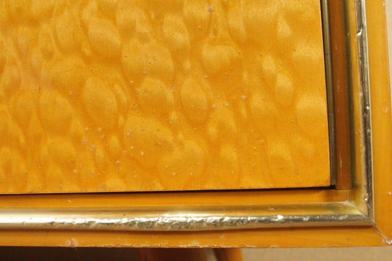 Vintage Sideboard mit Vitrine Aufsatz Highboard Schweizer Birnbaum  50er 8