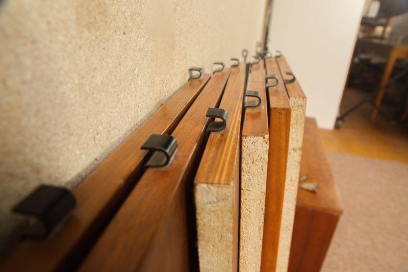 Vintage Wandregal, Regal im String Stil, Nussbaum mit Container 60er Jahre 5
