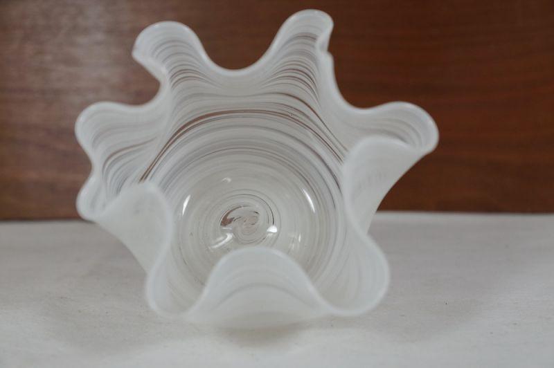 Blumenvase Taschentuch Vase, weiss, Italien/ 50er, 60er 3