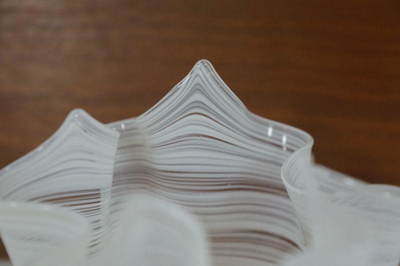 Blumenvase Taschentuch Vase, weiss, Italien/ 50er, 60er 5