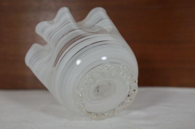 Blumenvase Taschentuch Vase, weiss, Italien/ 50er, 60er 6