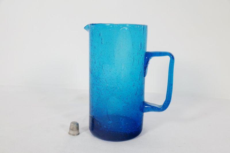 Mid Century Skandinavien Glaskrug, Lufteinschlüsse/ 60er