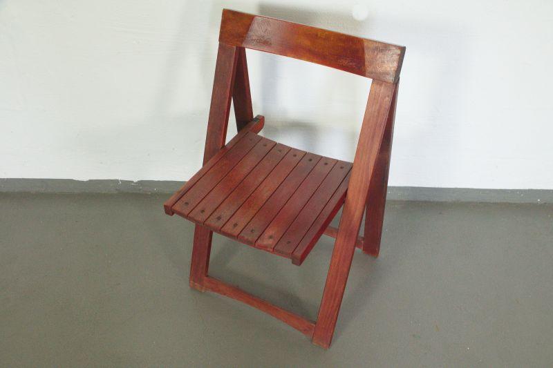 Vintage Faltstuhl, Klappstuhl von Aldo Jacober/ 60er Jahre Designstuhl 1