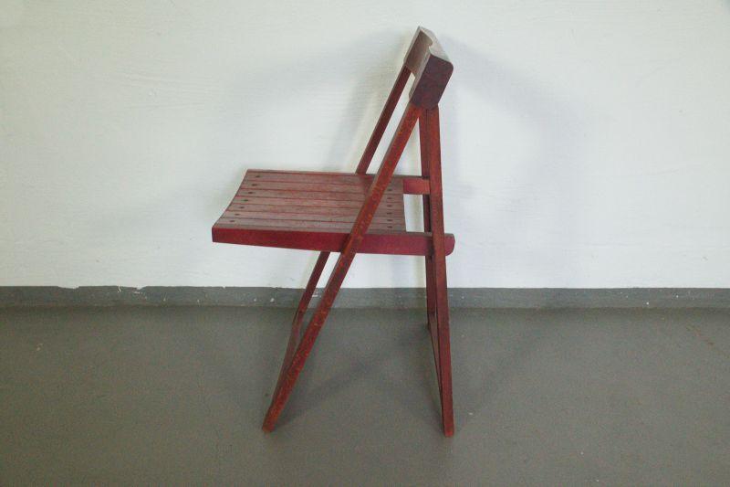 Vintage Faltstuhl, Klappstuhl von Aldo Jacober/ 60er Jahre Designstuhl 2