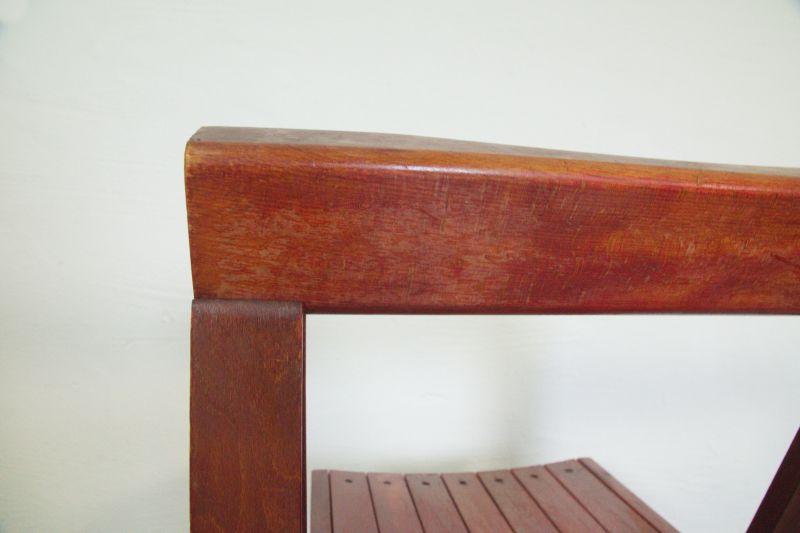 Vintage Faltstuhl, Klappstuhl von Aldo Jacober/ 60er Jahre Designstuhl 7