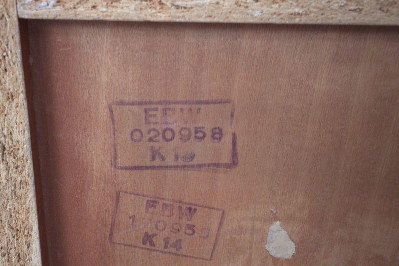 Kleines Sideboard mit Schubladen und Glasplatte von Behr Möbel | 1958, 50er Jahre 9