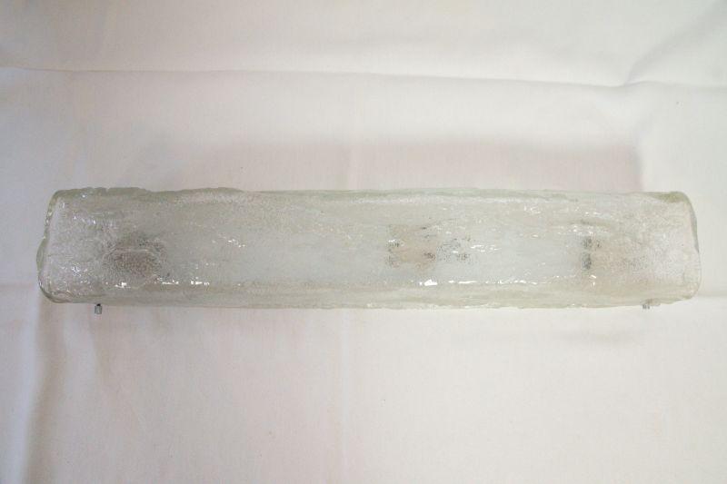 Vintage Eisglas Wandlampe HONSEL hoch & quer Lampe 60er, 70er