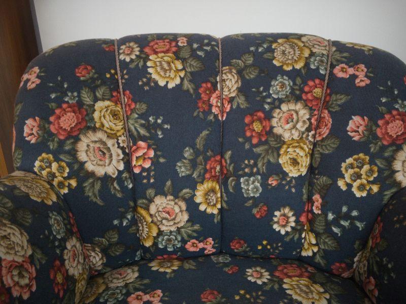 Vintage Sessel Clubsessel Federkern neu gepolstert Blau 50er Jahre 4