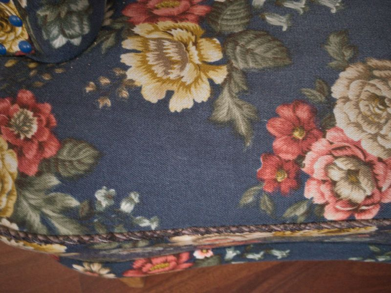 Vintage Sessel Clubsessel Federkern neu gepolstert Blau 50er Jahre 5