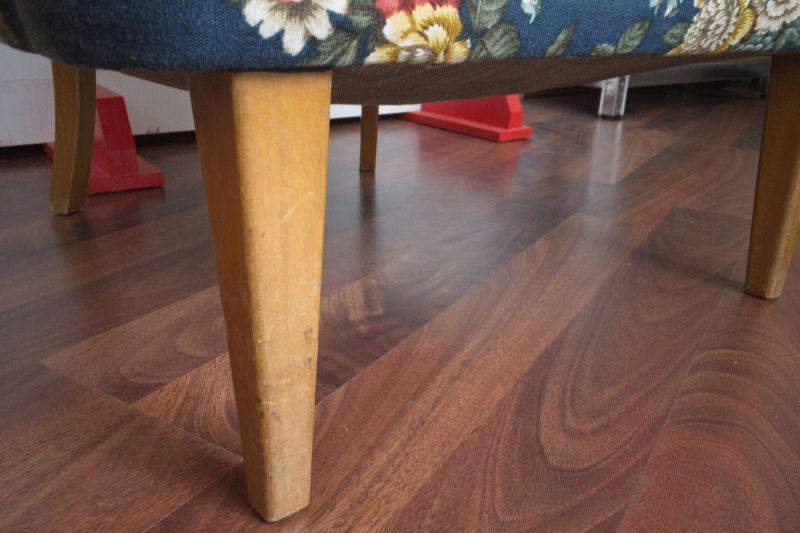 Vintage Sessel Clubsessel Federkern neu gepolstert Blau 50er Jahre 6