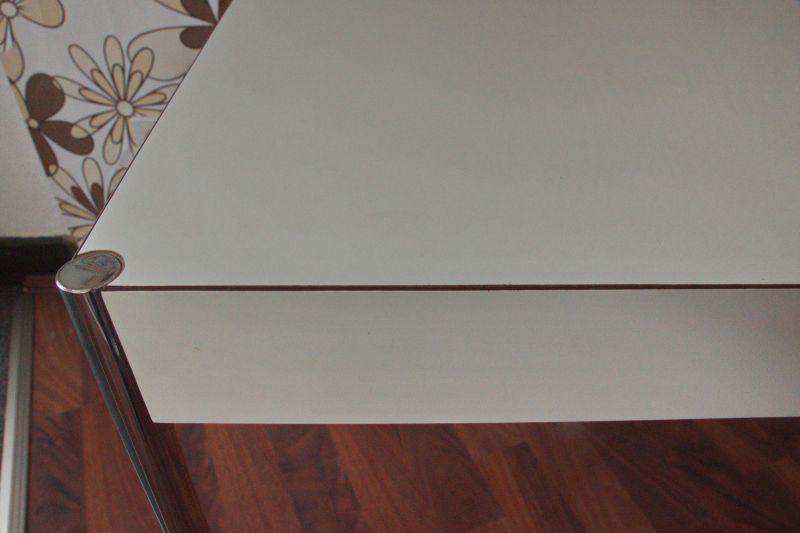 Designtisch, Esstisch von edlef Bandixen für Kusch & Co, Resopal weiss, 70er 4