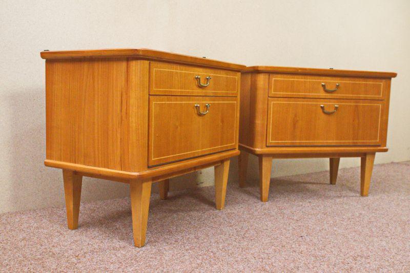 Vintage Kommode Kirsche Furnier Nachttisch 50er 60er 1x vorhanden 2