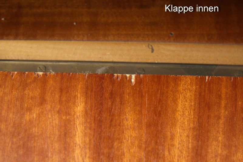 Vintage Kommode Kirsche Furnier Nachttisch 50er 60er 1x vorhanden 7