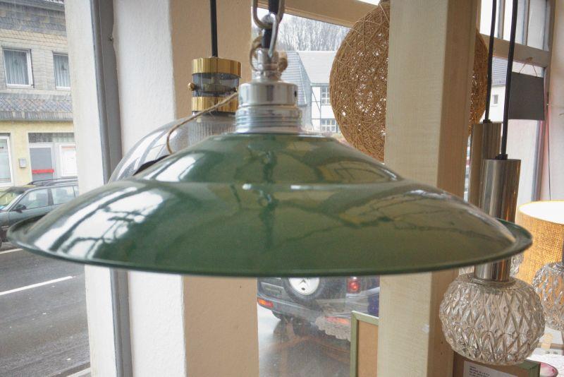 Retro Deckenlampe im Industriedesign der 50er 60er Stil Emaille Grün 1
