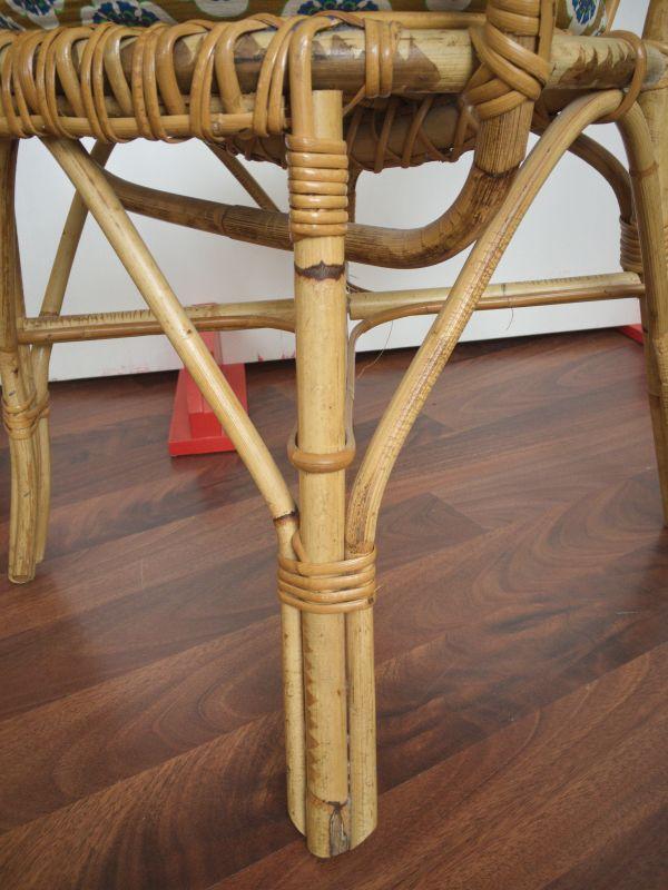 2 Rattan Stühle von Rohè, Noordwolde, Holland Vintage 50er 60er 5