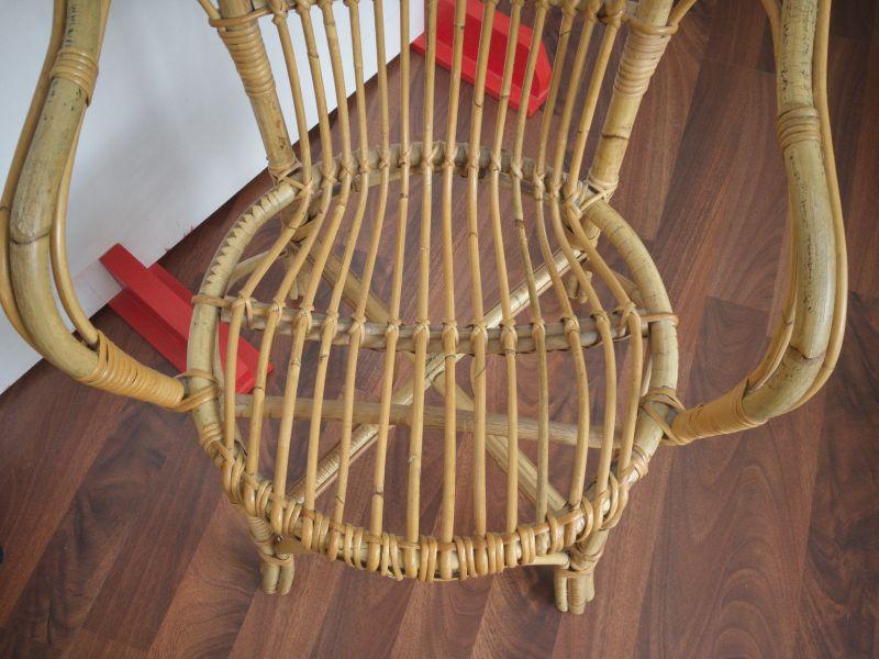 2 Rattan Stühle von Rohè, Noordwolde, Holland Vintage 50er 60er 6