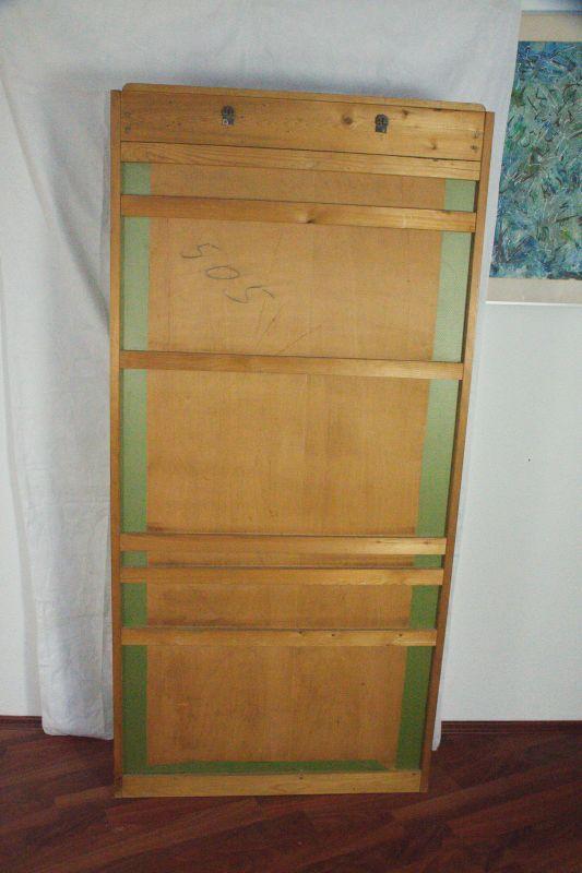 Vintage Garderobe Standgarderobe Grün wie Veralux 50er 60er Jahre mit Spiegel 5