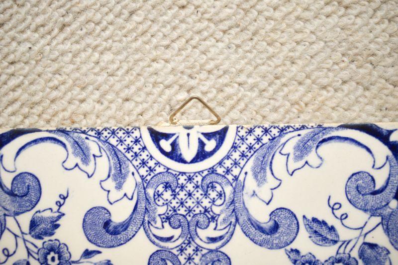 6 Fliesen aus Portugal, Keramik Steingut COMBRA Vintage Küche Bad 50er Jahre 1