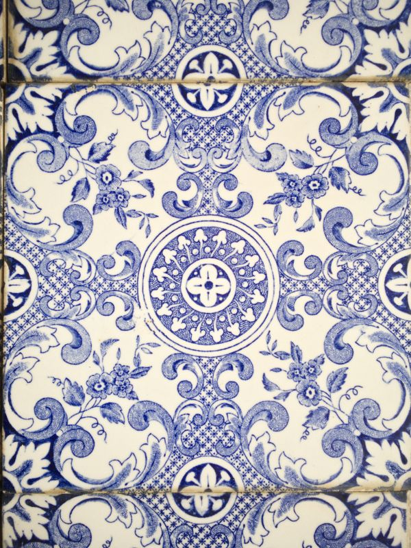 6 Fliesen aus Portugal, Keramik Steingut COMBRA Vintage Küche Bad 50er Jahre 2