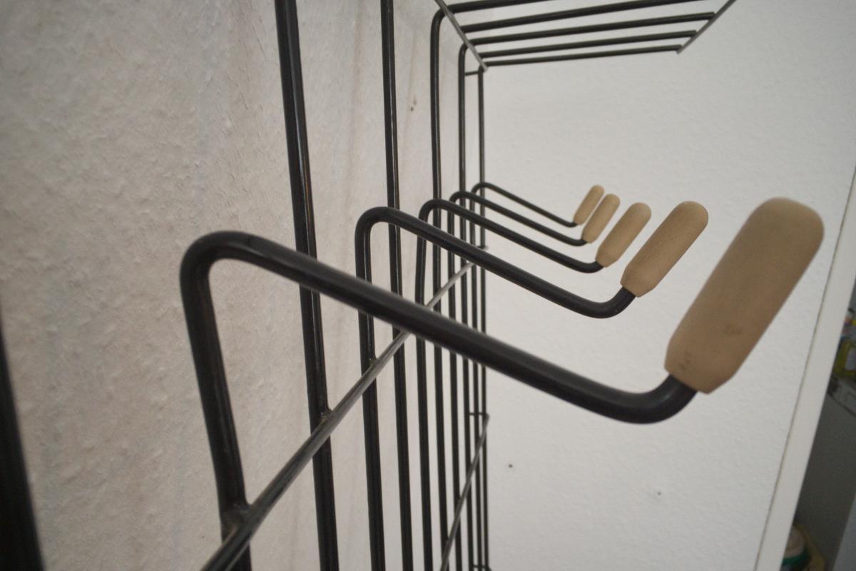 Midcentury String Garderobe Wandgarderobe Wardrobe 60er Jahre 7