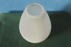 Ersatz lampenglas für hängeleuchte längelampe glas weiß rillenoptik 60er jahre