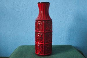 Bay keramik design keramikvase glasur rot form 74 30 keramik vase pottery 60er