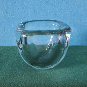 Midcentury Glasvase Schale skandinavisches DESIGN 4 kg klares Glas 60er Jahre