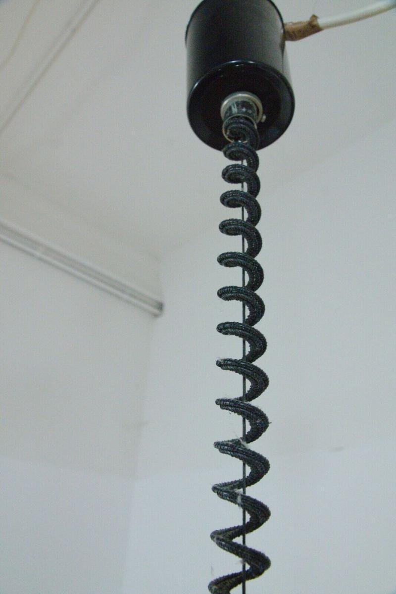 Küchenlampe hängelampe essplatzlampe küche esstisch rund weiß 60er 70er jahre 2