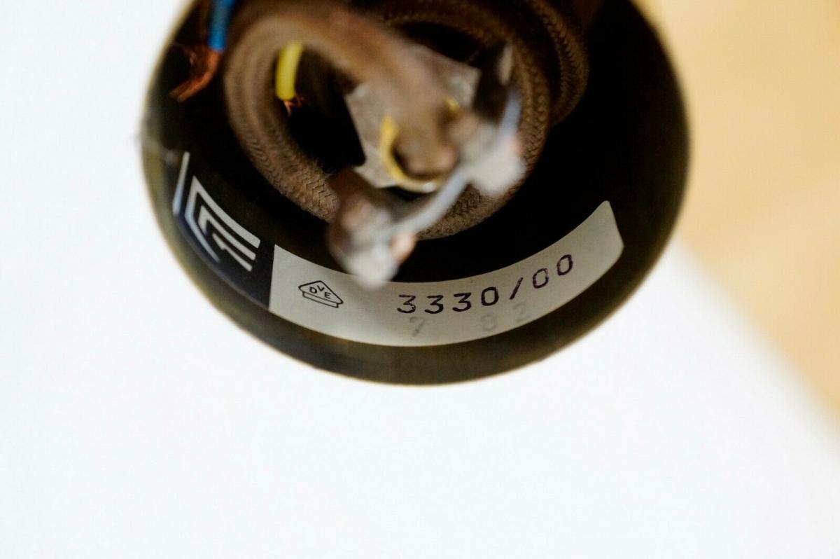 Küchenlampe hängelampe essplatzlampe küche esstisch rund weiß 60er 70er jahre 3