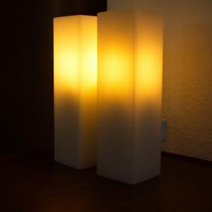 Midcentury Lampe Wandlampe Leuchte DORIA Wall Lamp Glassäulen H 28 cm 60er