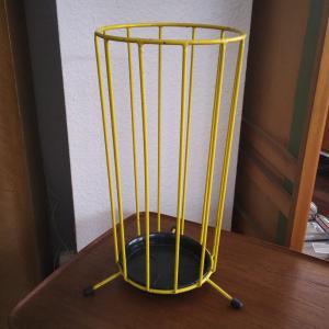 Vintage Umbrella Stand SCHIRMSTÄNDER Gelb ROCKABILLY 50er 60er Jahre