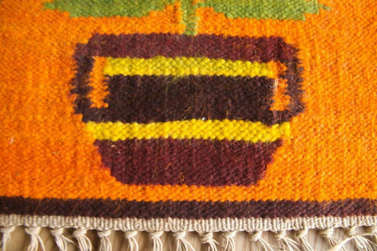Dänischer tischläufer tischdecke dänemark danish design 60er jahre orange tisch 3