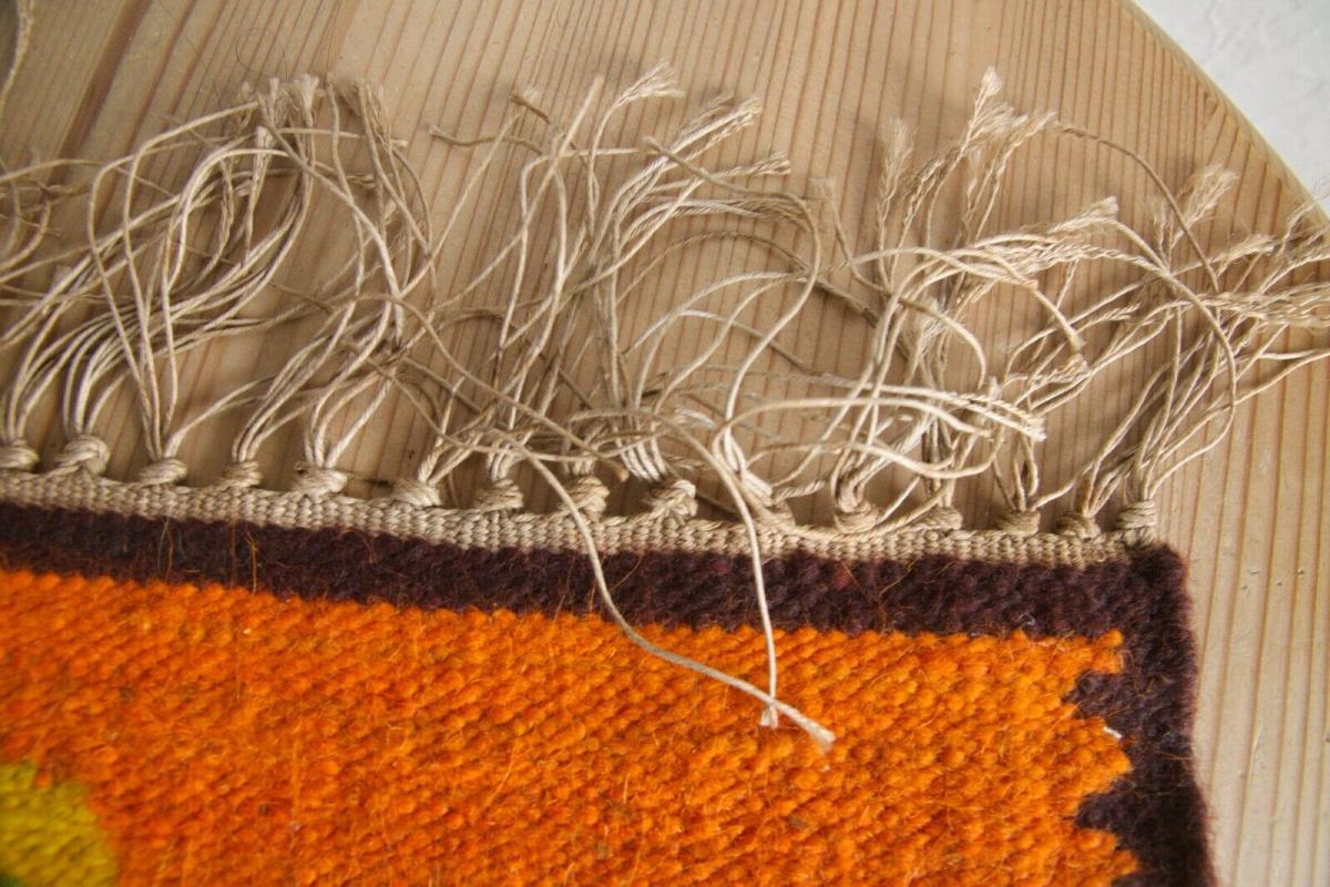 Dänischer tischläufer tischdecke dänemark danish design 60er jahre orange tisch 5
