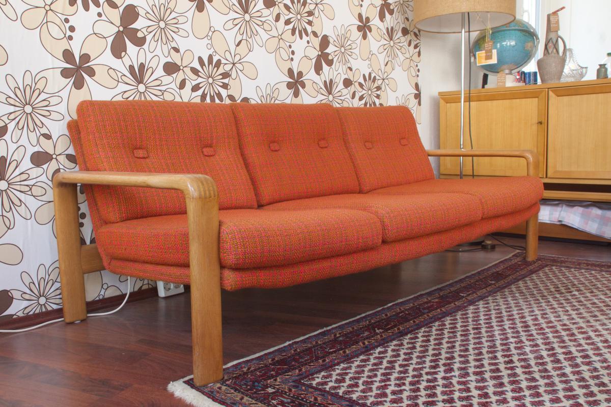 Midcentury Garnitur Sofa & 2 Sessel COUCHGARNITUR Eiche Danish Design 60er Jahre 1