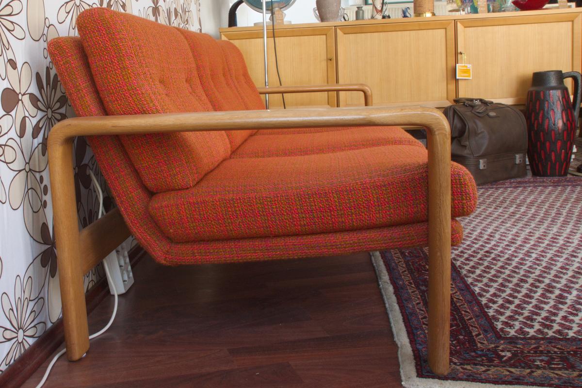 Midcentury Garnitur Sofa & 2 Sessel COUCHGARNITUR Eiche Danish Design 60er Jahre 2