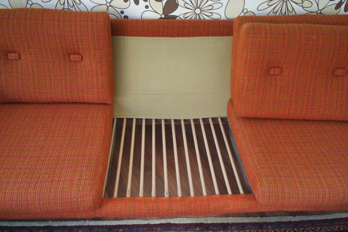 Midcentury Garnitur Sofa & 2 Sessel COUCHGARNITUR Eiche Danish Design 60er Jahre 3
