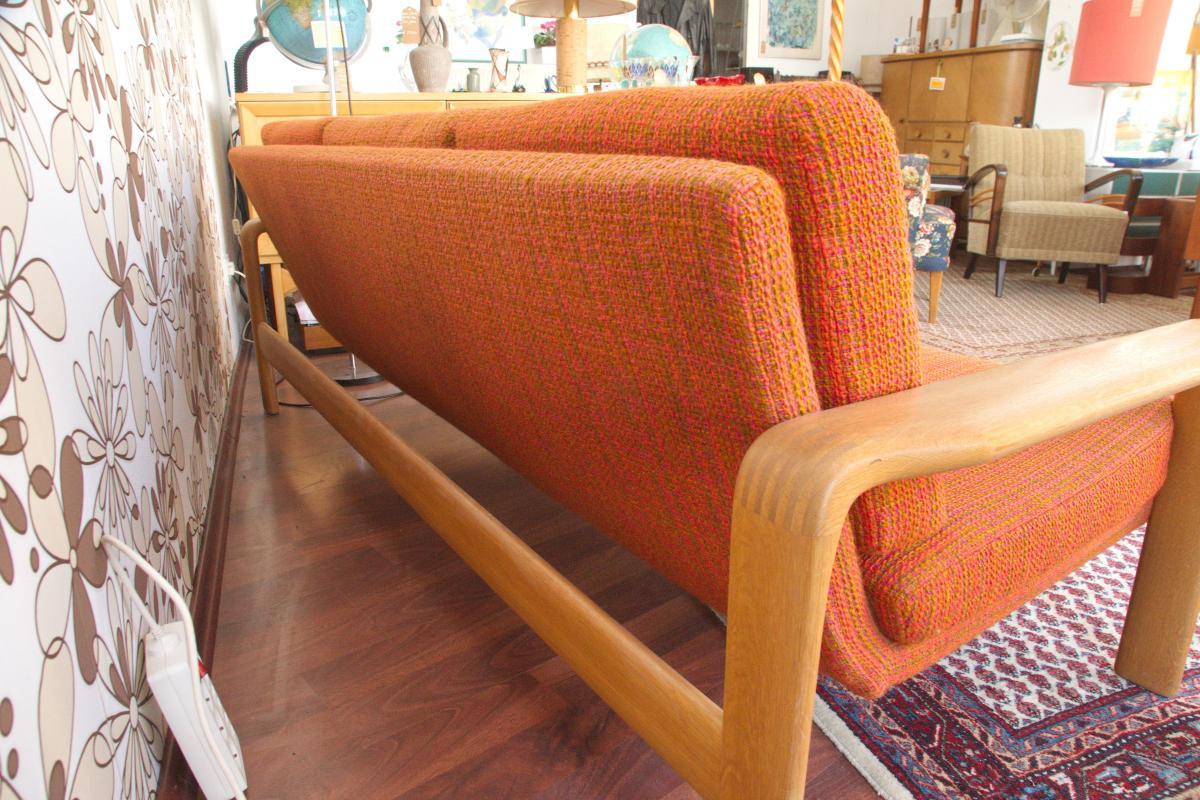 Midcentury Garnitur Sofa & 2 Sessel COUCHGARNITUR Eiche Danish Design 60er Jahre 8