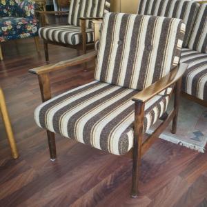 Midcentury Easychair Sessel DANISH DESIGN 50er 60er original Stoffbezug Braun #1