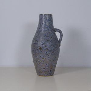 Kunsttöpferei unterfang ktu fat lava vase krugvase krug schlangenhaut 60er jahre