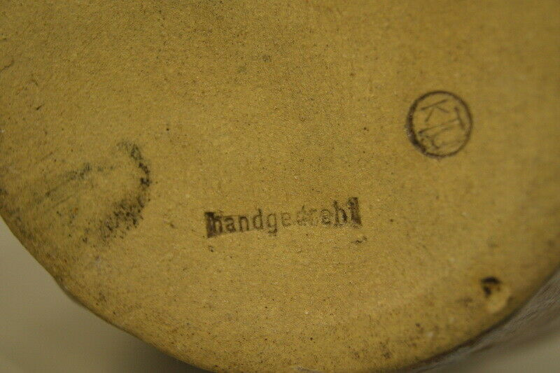 Vintage Vase Keramik Krug Kunsttöpferei Unterfang KTU Fat Lava 60er Jahre 6